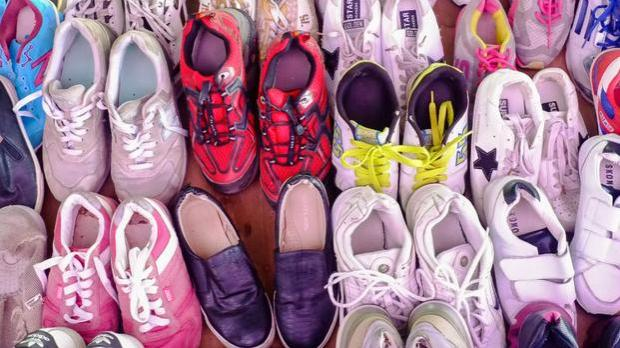 The shoes were hidden in a container of plastic cups. File photo: Shutterstock