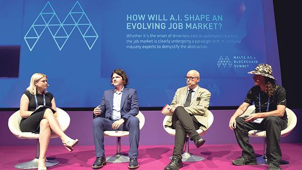 Speakers at the 2019 Malta AI & Blockchain Summit.