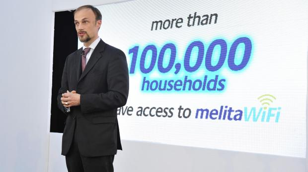 Melita plc chief executive Marc Torriani during the launch of melitaWifi earlier this week.