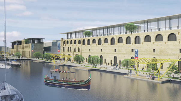 The proposed campus in Cospicua.