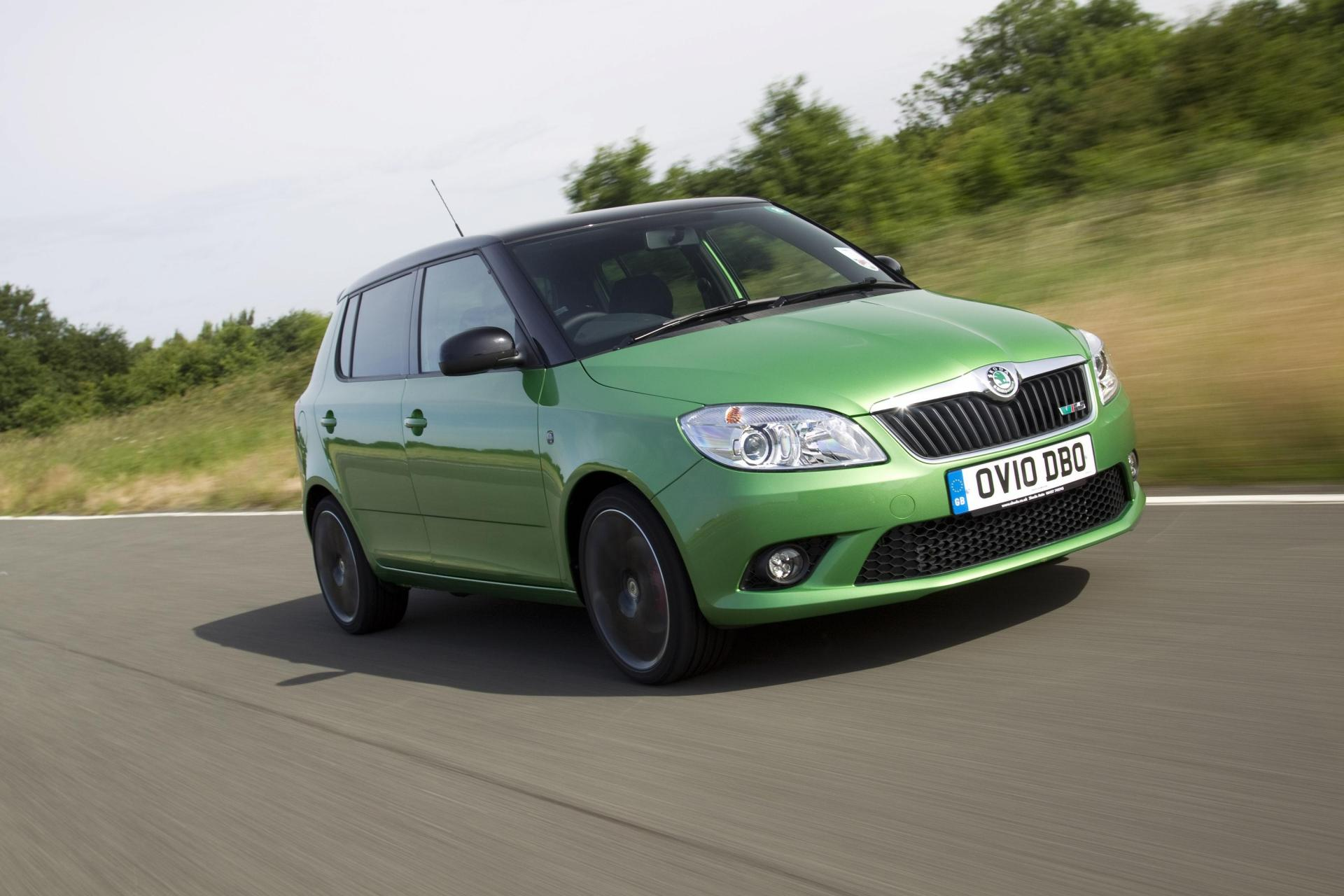 The Fabia vRS pioneered 'twin-charging' technology for hot hatches. (Skoda)