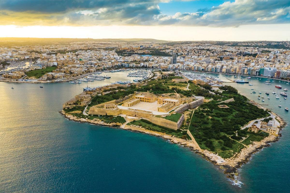 Aerial shot of Manoel Island