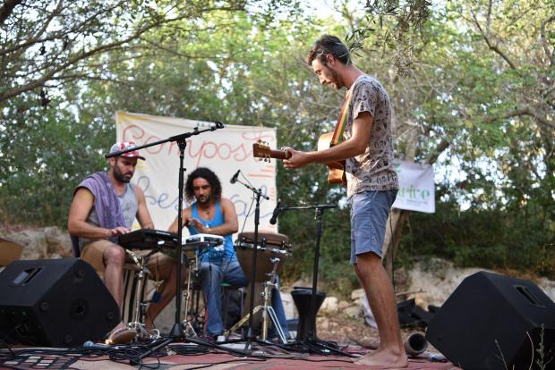 A band plays at the Compost Festival at a farm in Mgarr on July 16. Photo: Mark Zammit Cordina