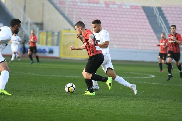 Hibernians, Ħamrun earned a point each after their goalless stalemate. Photo: Jonathan Borg