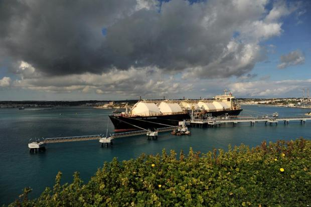 LNG tanker Armada Mediterrana anchored in Marsaxlokk bay on February 11. Photo: Chris Sant Fournier