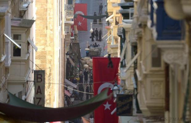 "The streets of Valletta echoed scenes of the last days of the Ottoman Empire on October 19 for the shooting of the film ""The Promise"" starring Christian Bale. Photo: Matthew Mirabelli"