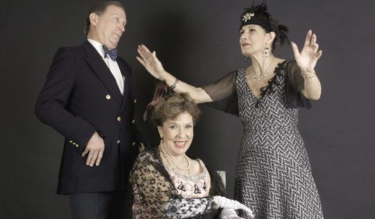 A stellar cast for Glorious... (from left) Colin Willis, Marylu Coppini and Nanette Brimmer.