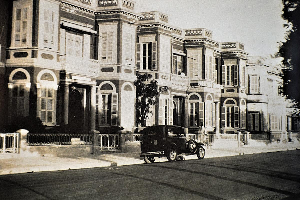Red bay-fronted maisonettes in Tower Road, Sliema, early 1930s. Photo: Geo. Furst