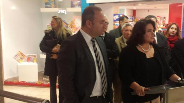 Ministers Chris Cardona (left) and Helena Dalli (right) at today's press conference. Photo: Keith Micallef