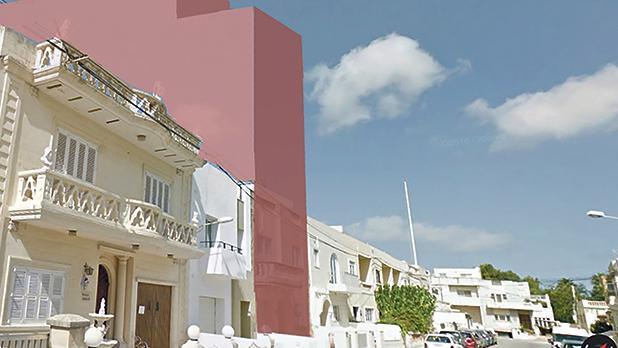 Unofficial impression of the proposed development in Triq tal-Mirakli, Lija, produced by objectors.