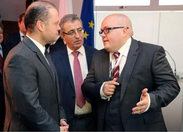 Joseph Muscat pays a visit to AAT in 2016, during which he endorses Dr Attard Trevisan's work