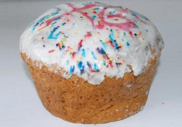 Russians traditionally bake Easter cakes, known as 'kulich'.