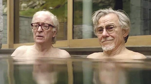 Paolo Sorrentino's film Youth centres on two close friends sharing a vacation at an exclusive Swiss spa. Seen here are actors Michael Caine and Harvey Keitel.