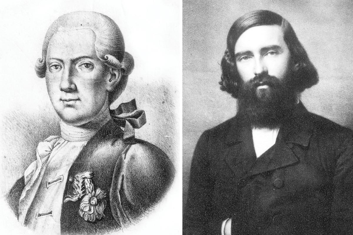 Professors Joseph Barth (left) and Albrecht von Graefe