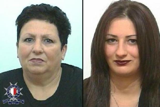 Maria Lourdes and Angele Bonnici.