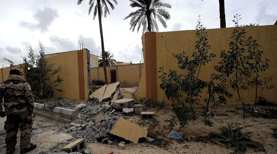 A damaged house in central Misurata, Libya's third largest city, yesterday. Photo: Filippo Monteforte/AFP