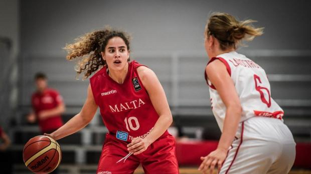 Malta's Christina Grima in action against Norway. Photo: FIBA EUROPE