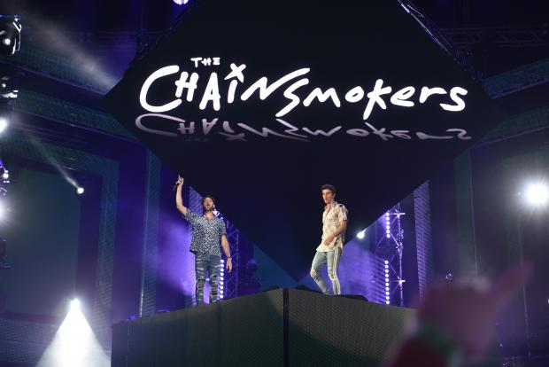 The Chainsmokers at the June 2017 concert. Photo: Mark Zammit Cordina