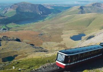 Taking the railway is the easiest way to reach the top of Snowdon.