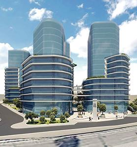 An artist's impression of the Mrieħel high-rise project.