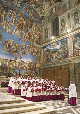 The Cappella Musicale Pontificia Sistina