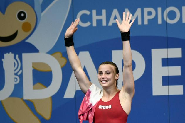 Watch: World champion Laura Marino performs spectacular dive at Wied Mielaħ