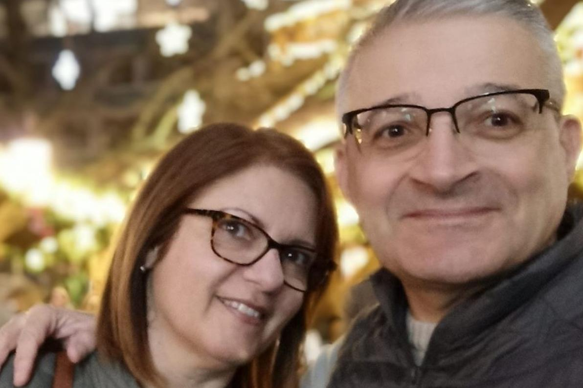 Miriam Pace, left, was killed last month when her home collapsed. She is pictured with her husband, Carmel. Photo: Facebook