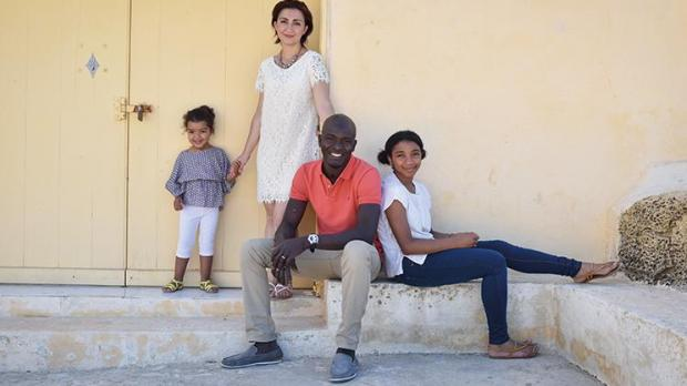 Christine Xuereb Seidu and her family in Malta. Photo: Hush Studios
