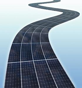 Covering roads with solar panels presents some challenges: The panels give a lower yield compared to conventional photovoltaic panels; they have to be able to take the weight of heavy vehicles; and being laid flat, they also have to be very well sealed from rainwater with a top layer of silicon resin.