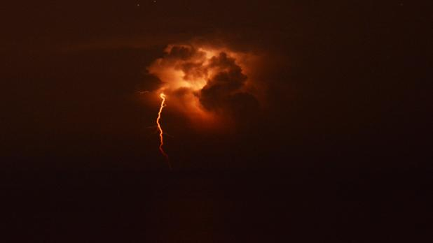 The storm seen from Blue Grotto. Photo: Martin Seychell