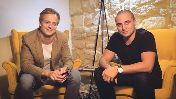 Joonas Karhu (left) and Stan Filin, two of the final-year executive MBA students, who are currently running a Zaar crowdfunding campaign for their proposed business start-up project to launch Malta's first shaving blade subscription service.