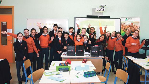 Students at St Nicholas College Rabat Middle School during the event.