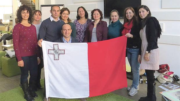 The Maltese participants at the conference.