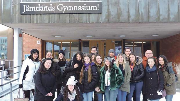 The participants at JämtlandsGymnasium school in Östersund, Sweden.