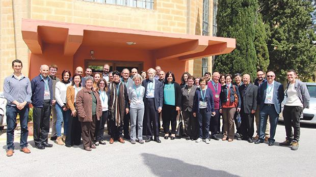 The participants in the course at Mount St Joseph spirituality centre, Mosta.