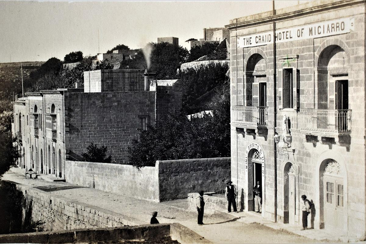 The Grand Hotel in Mġarr, 1920s. All images from the author's collection