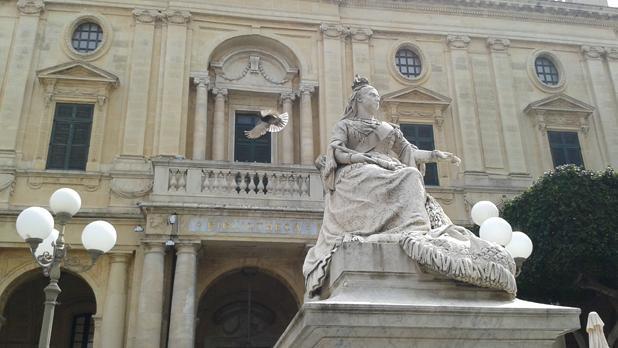 The monument of Queen Victoria in Valletta. Photo: Megan Mallia