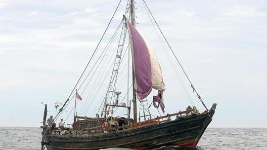 File photo - This replica 600 BC Phoenician merchant ship, the Phoenicia, visited Malta in 2010.