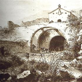 A lithograph by William Schellinks depicting the Fawwara Chapel in 1664, almost 50 years after it was first built.