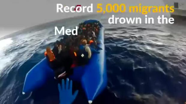 Total migrant deaths in the Mediterranean this year: a record 5,000