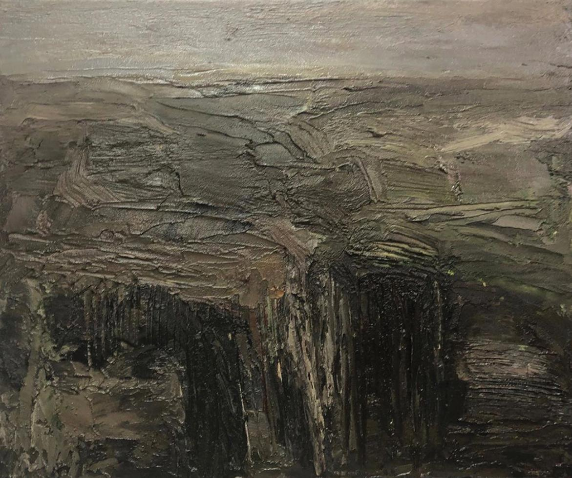 Untitled from the Lichtung series, mixed media on canvas