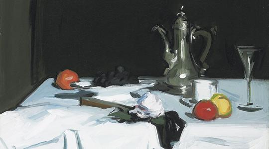 The Coffee Pot painting by Scottish colourist Samuel Peploe which could fetch up to £1.2 million.