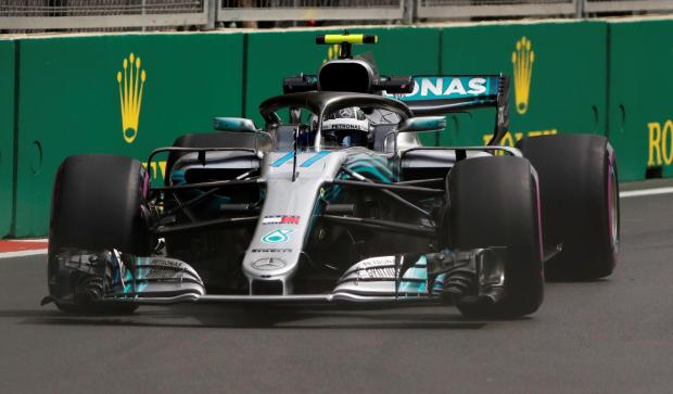 Valtteri Bottas topped the opening practice at the Azerbaijan Grand Prix.