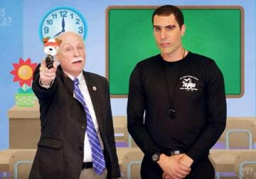 Watch: Man behind Borat gets US lawmakers to promote giving guns to pre-schoolers