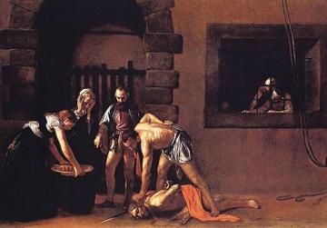The Beheading of St John, Caravaggio's masterpiece at St John's Co-Cathedral, Valletta.