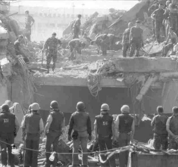 The 1983 bombing in Beirut was blamed on Tehran. Photo: Wikipedia