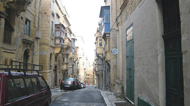 The lower part of St Dominic Street, Valletta, where Christian lived.