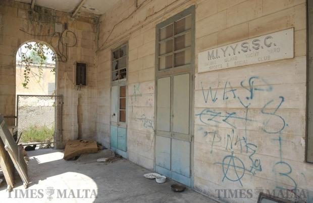 An abandoned social club on Manoel Island is seen on September 13. Photo: Matthew Mirabelli