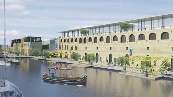 An impression of a branch of the institute alongside Dock 1.