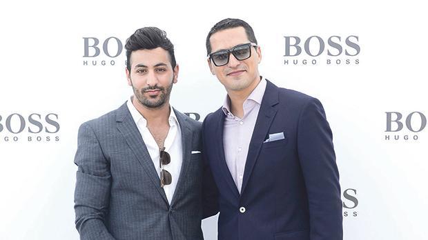 Daniel Azzopardi and Keith Demicoli wearing Boss.